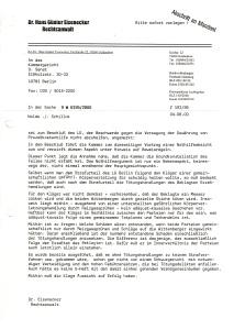 4. 8. 2000 - Nolde vs. Schillok - Schreiben an Kammergericht