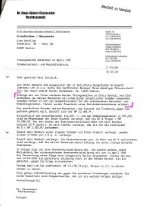 31. 3. 2000: Schadensersatz- u. Regreßforderung an Lutz Schillok (1)