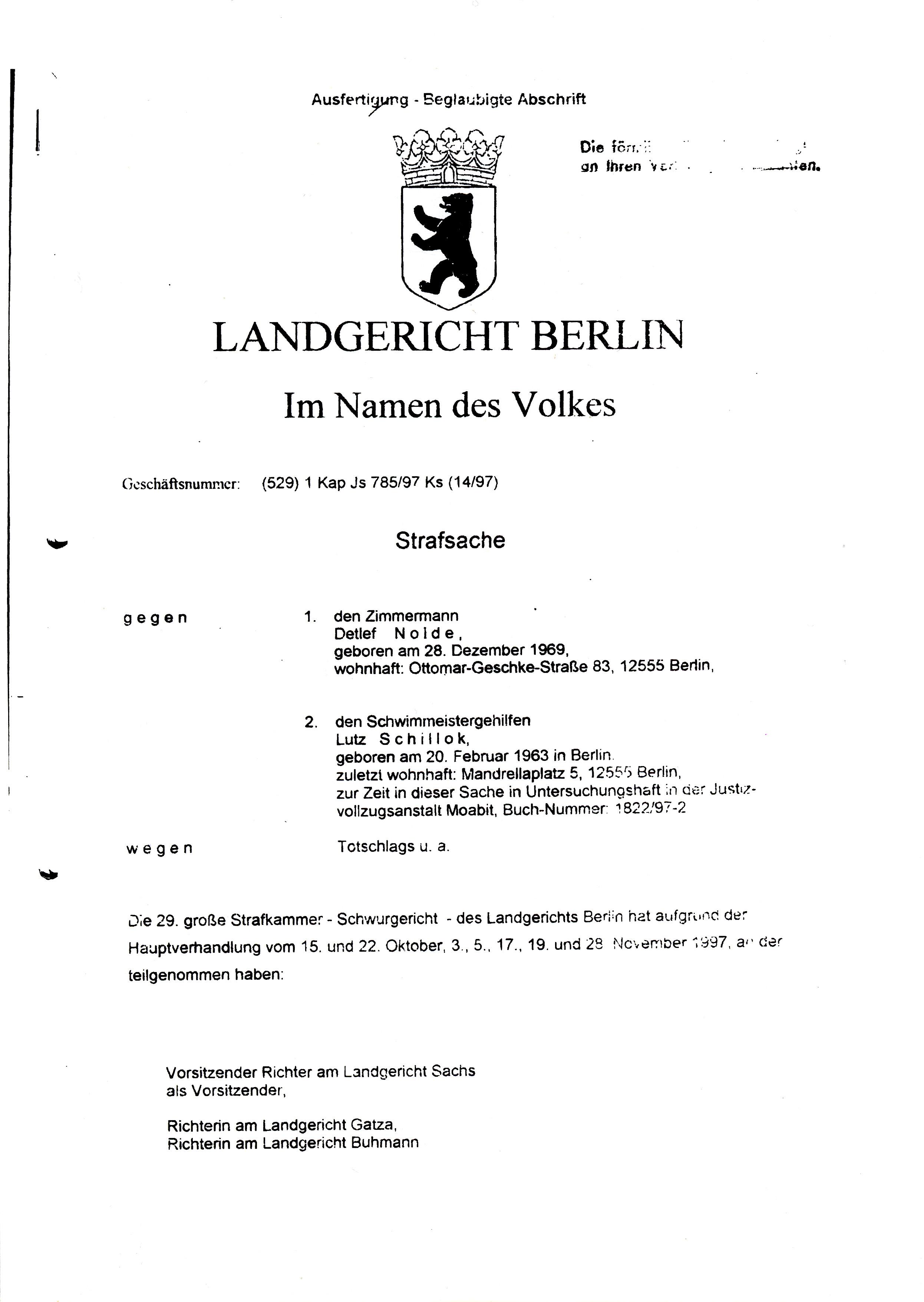 Urteile Landgericht Berlin
