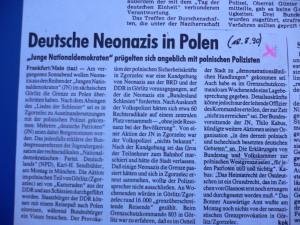 1990 mit der JN im polnisch besetzten Ostteil von Goerlitz