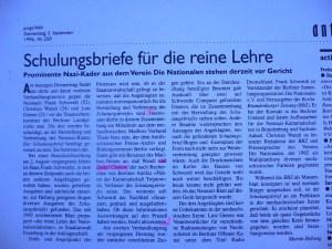 junge Welt 09/1996 ueber Schulungsbriefe
