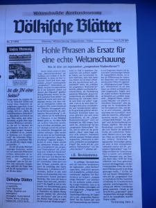 Voelkische Blaetter KT 1996