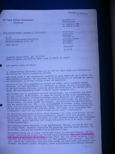 30. 7. 1998 Persönliche Überzeugung von RA Eisenecker zum Tatvorwurf a
