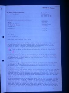 RA Eisenecker - Beweiserhebung 12. 11. 1997 (Seite 1)