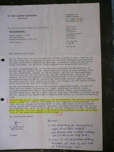 5. 11. 1998 RA Eisenecker an Nolde